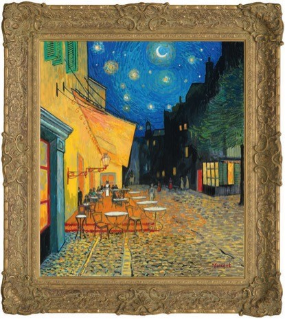 Image of The Starry Night with Café Terrace, Place Du Forum
