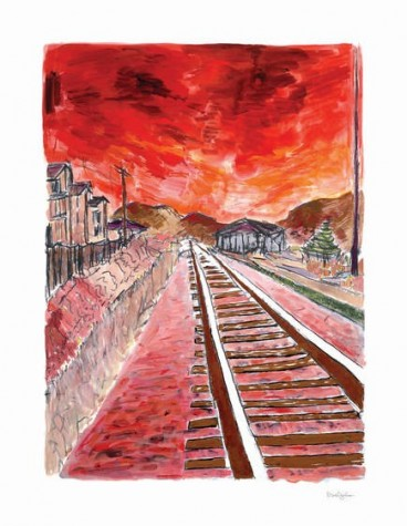 Train Tracks - Red (2012) | Bob Dylan image