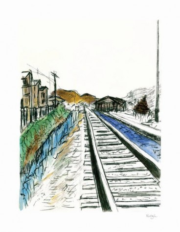 Train Tracks - White (2012) | Bob Dylan image