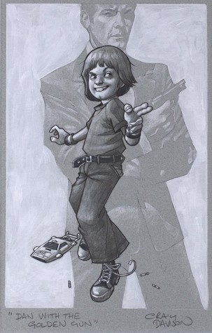 Dan With The Golden Gun Sketch | Craig Davison image