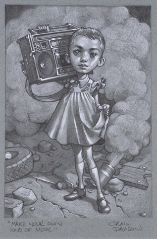 """Make Your Own Kind Of Music"" Sketch 