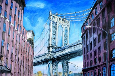 Manhattan Bridge, Downtown New York image