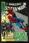 Signed Stan Lee The Amazing Spider-Man #65 Escape Impossible! Canvas image