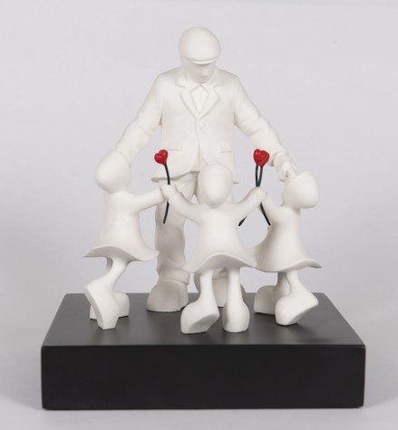 Three Times The Love | Mackenzie Thorpe Sculpture image