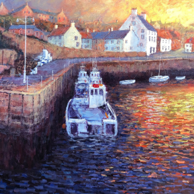 A New Day Dawns - Crail Harbour | Alexander Millar image