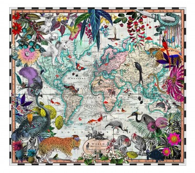 V&A Chart Map of the World | Kristjana S Williams image