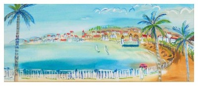 Baie Des Anges, Nice, 1926 (In The Style Of Raoul Dufy) image
